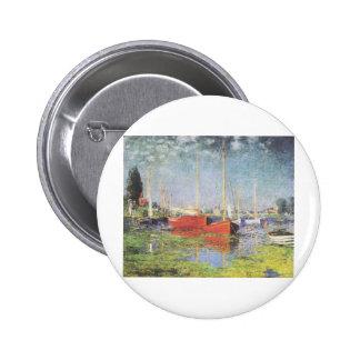 Barcos rojos, Argenteuil, Claude Monet Pin