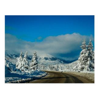 Bariloche, camino a la estación de esquí postal