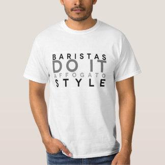 Baristas lo hace estilo de Affogato Camiseta