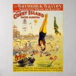 Barnum y carnaval del agua de Bailey Coney Island Poster