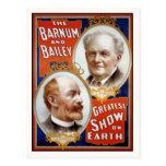 Barnum y la demostración más grande de Bailey en l Tarjetas Postales