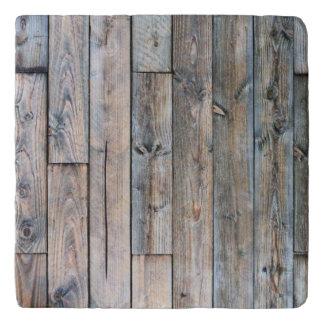 Barnwood rústico Trivets de piedra de mármol Salvamanteles