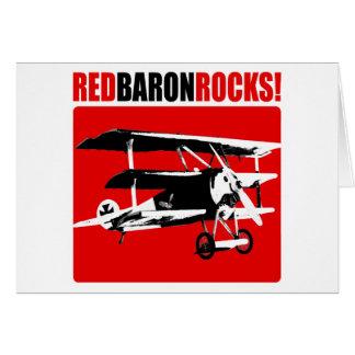 ¡Barón rojo Rocks! Tarjeta De Felicitación