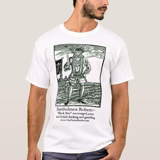 Baronet del negro del reino del pirata camiseta
