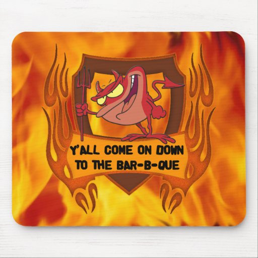 Barra-b-que del diablo tapetes de raton