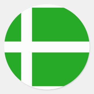 Barra, bandera de Reino Unido Pegatina Redonda