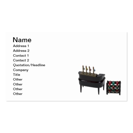 Barra casera con el estante del vino plantillas de tarjeta de negocio