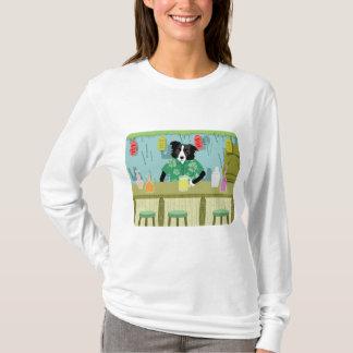 Barra de bambú de Tiki del border collie Camiseta