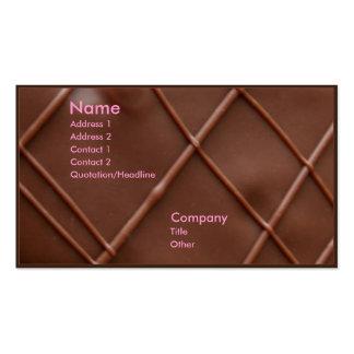 Barra de chocolate tarjetas de visita
