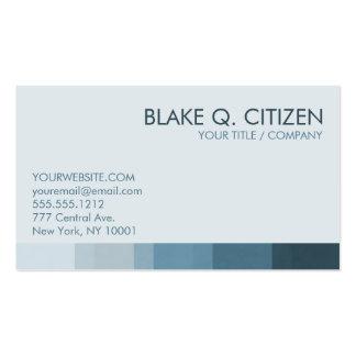 Barra de color azul fresca tarjetas de visita