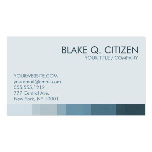 Barra de color azul fresca plantilla de tarjeta de negocio