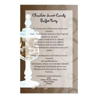 Barra de la comida fría del caramelo de chocolate, folleto 14 x 21,6 cm