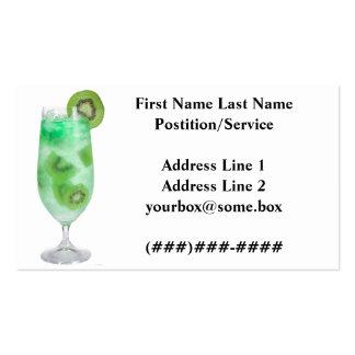 Barra de los refrigerios tarjetas de negocios