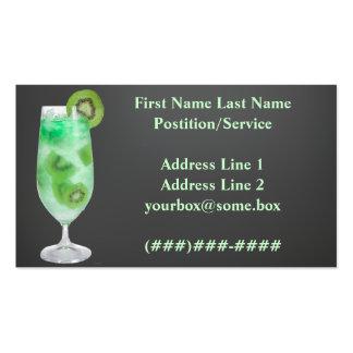 Barra de los refrigerios tarjetas de visita