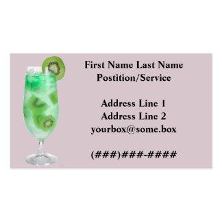 Barra de los refrigerios plantilla de tarjeta de negocio