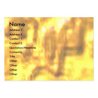 Barra de oro del vintage tarjetas de visita grandes