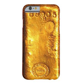 Barra de oro funda de iPhone 6 barely there