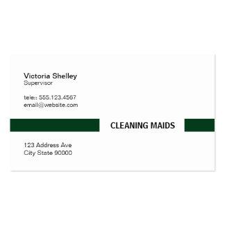 Barra de título (de color verde oscuro) tarjetas de visita