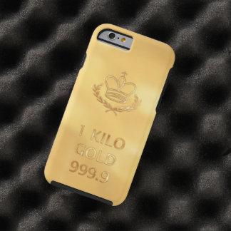 Barra del lingote de oro funda de iPhone 6 tough