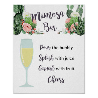 Barra del Mimosa que casa la muestra nupcial de la Póster