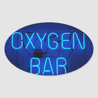 Barra del oxígeno pegatina de ovaladas