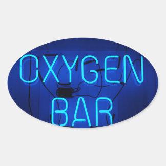 Barra del oxígeno pegatina ovalada