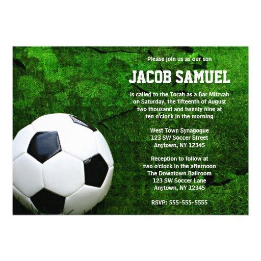Barra Mitzvah del balón de fútbol Invitación