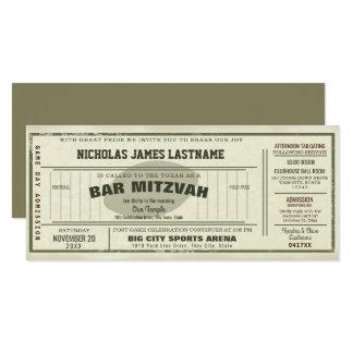 Barra Mitzvah del paso del fútbol del vintage Invitación 10,1 X 23,5 Cm
