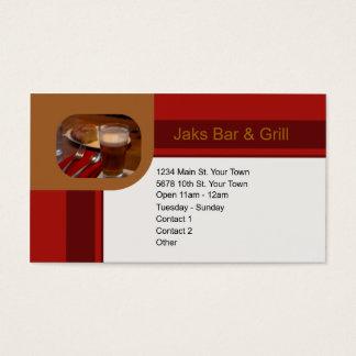Barra y parrilla tarjeta de negocios