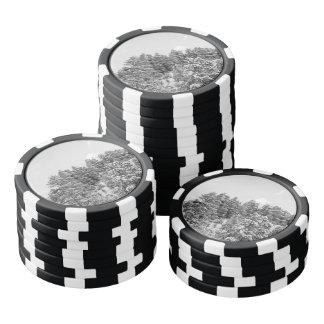 Barranco blanco y negro de Bryce Juego De Fichas De Póquer