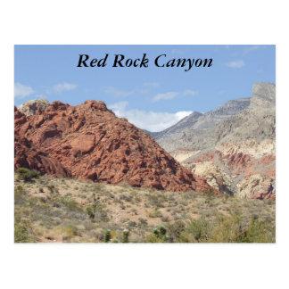 Barranco rojo de la roca, desierto de Mojave, Postal