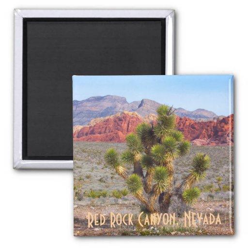 Barranco rojo de la roca, Nevada Iman De Nevera