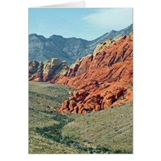 Barranco rojo de la roca tarjeta pequeña