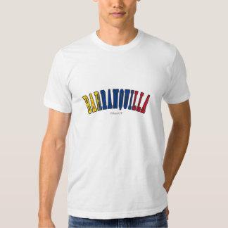Barranquilla en colores de la bandera nacional de camiseta