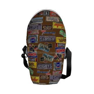 Barras de caramelo bolsas de mensajería