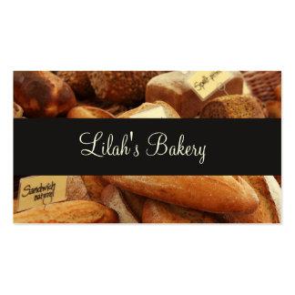 Barras de pan modernas de la panadería tarjetas de visita