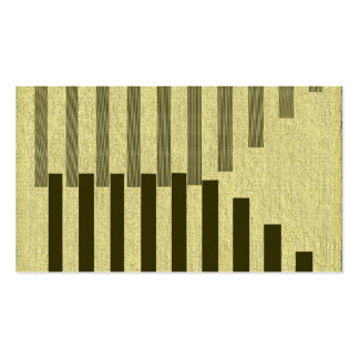 Barras gráficas tarjetas de visita