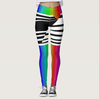 Barras horizontales de la difusión del arco iris leggings