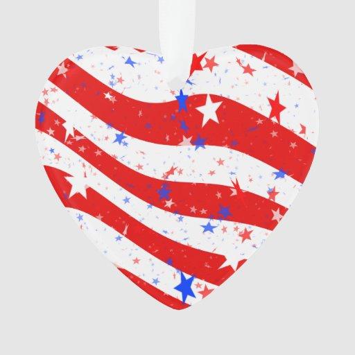 Barras y estrellas curvadas Día de la Independenci
