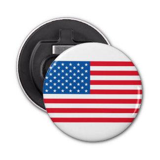 Barras y estrellas de la bandera de los E.E.U.U. Abrebotellas Redondo