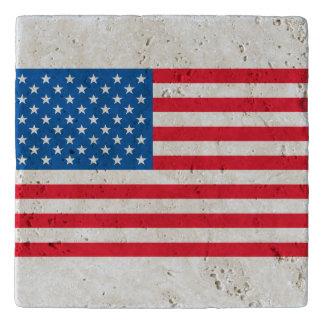 Barras y estrellas de la bandera de los E.E.U.U. Salvamanteles
