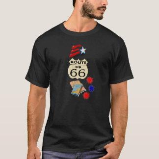 Barras y estrellas de la ruta 66 - camiseta