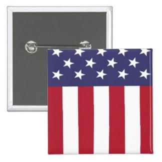 Barras y estrellas patrióticas de la bandera chapa cuadrada 5 cm