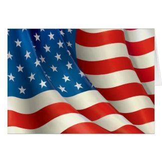 Barras y estrellas que agitan la bandera de los tarjeta pequeña