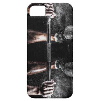 Barras y tiza - impresión del levantamiento de iPhone 5 fundas