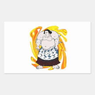 Barrendero del sumo pegatina rectangular