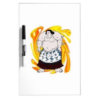 Barrendero del sumo pizarra blanca