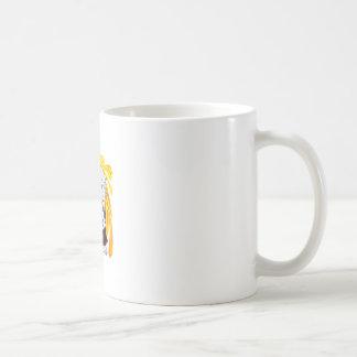 Barrendero del sumo taza de café