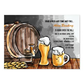 Barril de invitación de la cerveza