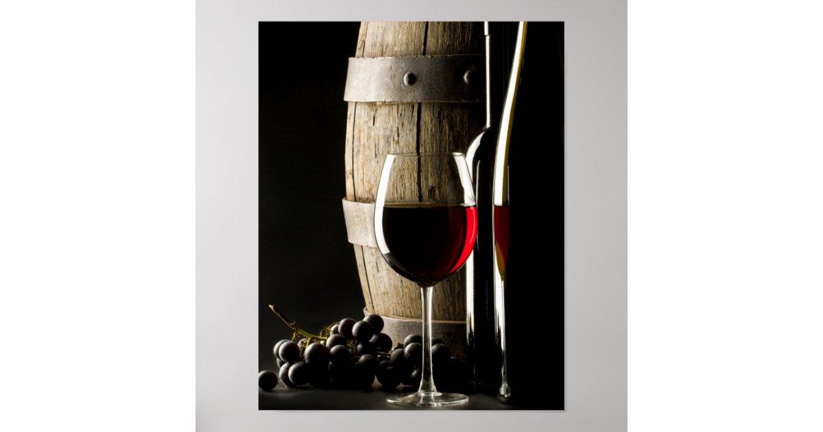 Barril de vino p ster zazzle - Barril de vino ...